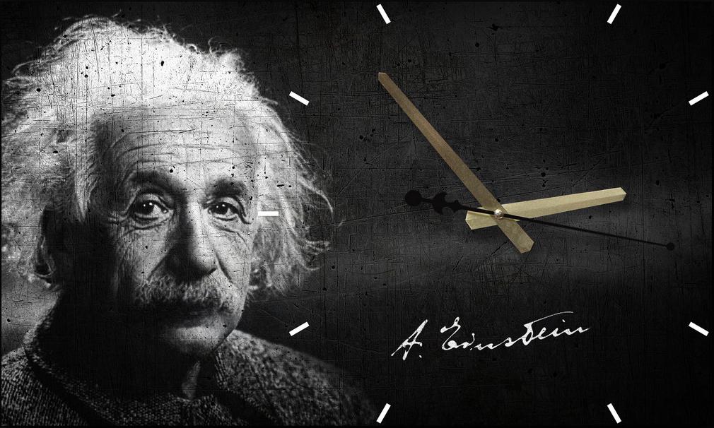 Настенные часы-картина Альберт Эйнштейн Time2go