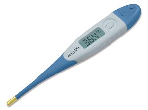 Термометр с золотым гибким антиаллергенным наконечником