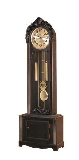 Напольные часы Sinix с боем и мелодией в чёрном цвете