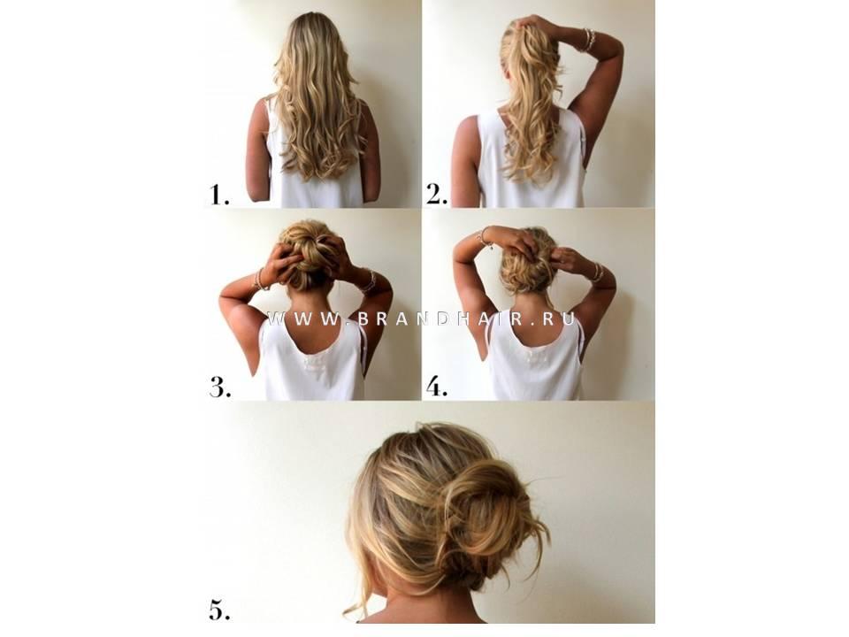 Как из волос сделать волосы на заколках 378