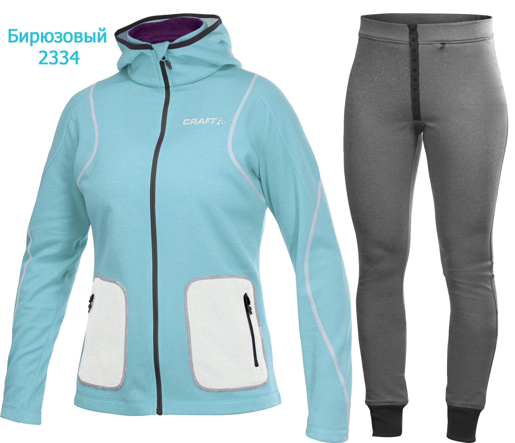 Толстовка Craft Active Hood Zip и флисовые брюки Craft Active