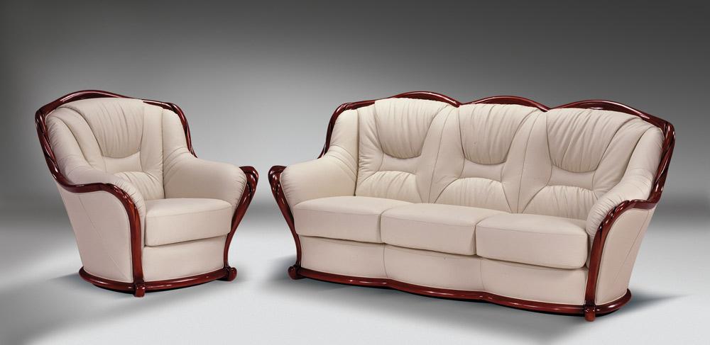 Набор кожаной мягкой мебели