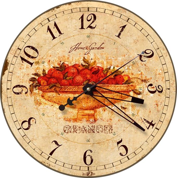 Настенные часы-картина Time2go Корзинка с фруктами