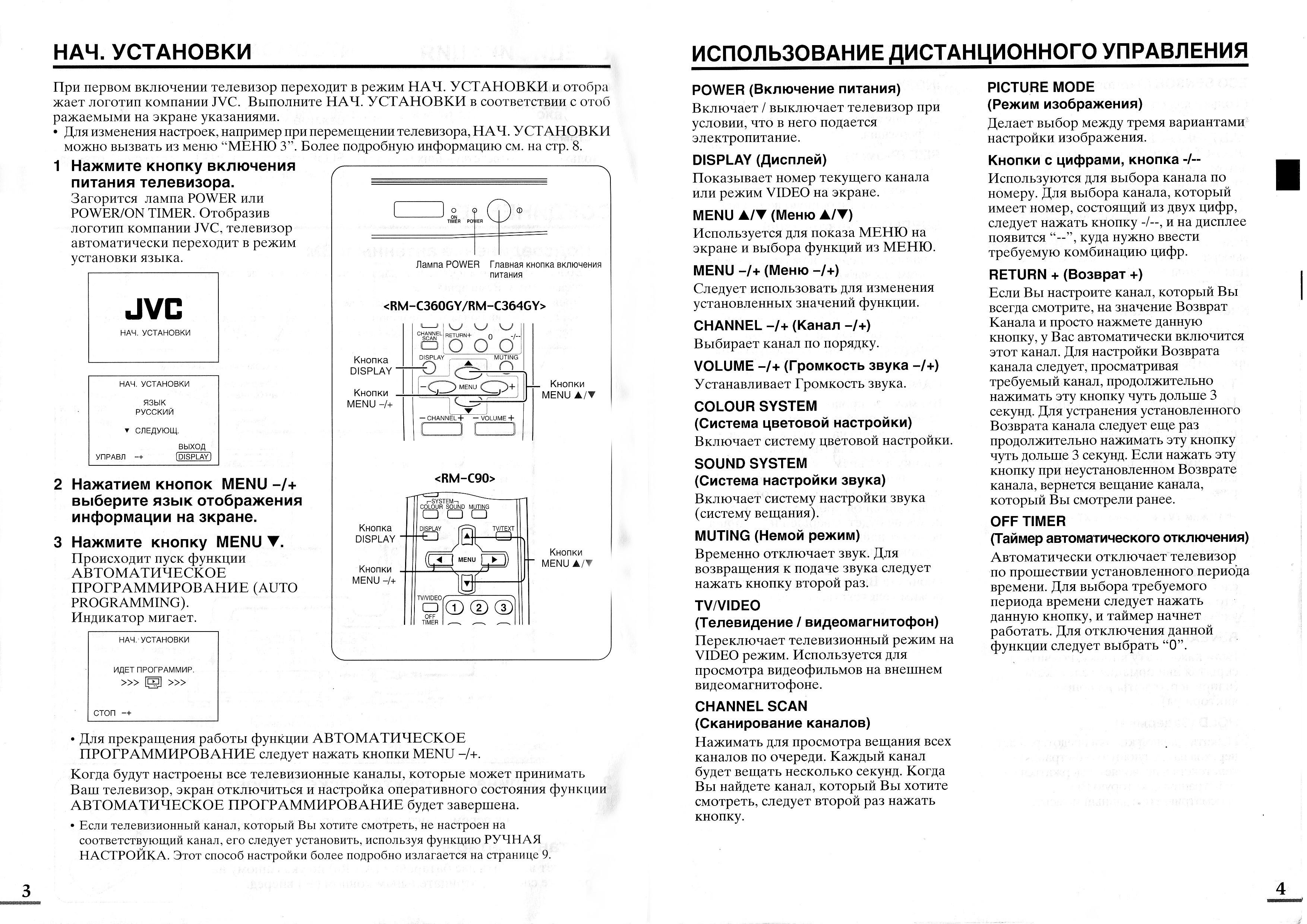 Инструкция телевизора jvc av 14a3 av 14f3 av 20n3 av 21e3 av