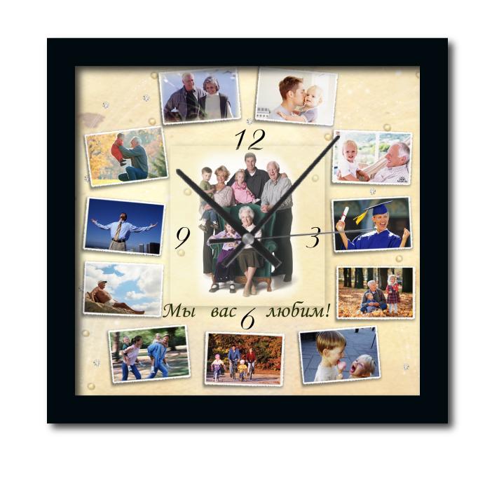 Подарки с фотографией часы 101