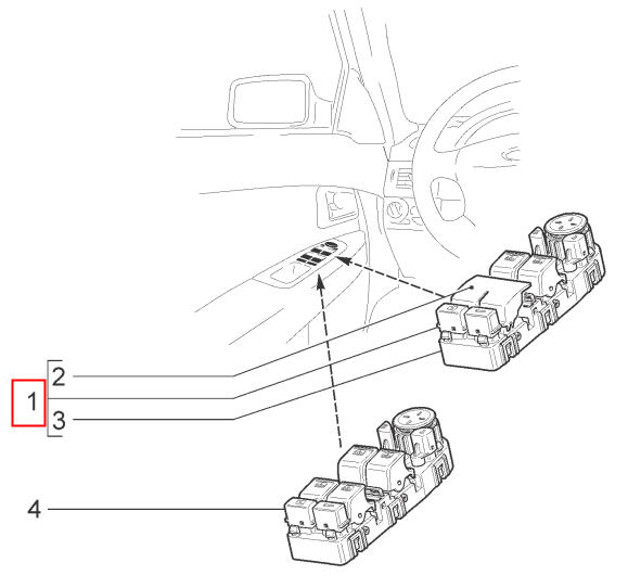 Положение модуля двери