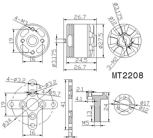 T-Motor MT2208 KV1100