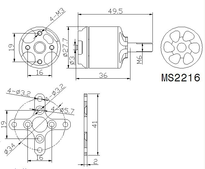 T-Motor MS2216 KV900