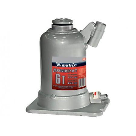 Домкрат гидравлический бутылочный Matrix 10т, 228-601мм, 507455