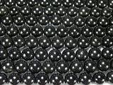 Нить бусин из турмалина черного, шар гладкий 10мм