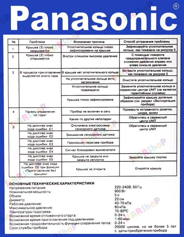 Мультиварка panasonic sr mhs181wtq — обзор, инструкция, отзывы.